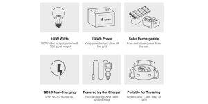 Suaoki portable solar generator s270