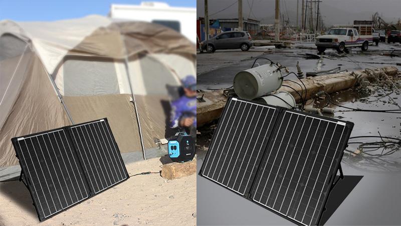 100W Folding Solar Panels