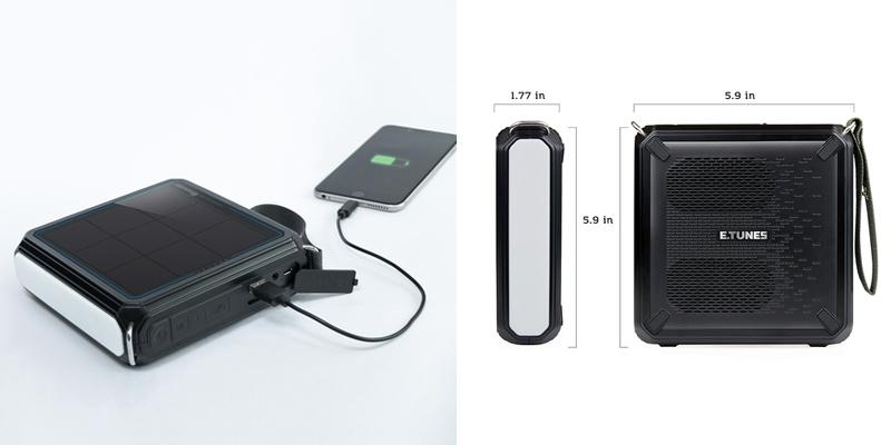 Renogy ETunes Portable Solar Bluetooth Outdoor Speaker