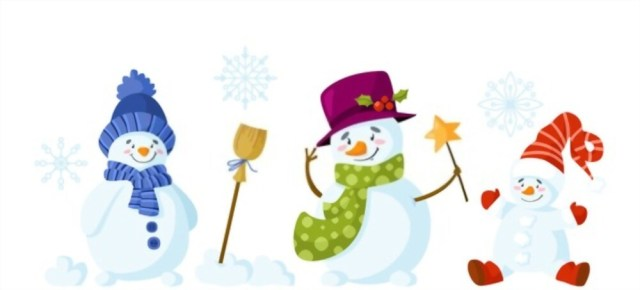 Snowman Clipart For Creative Christmas Pages