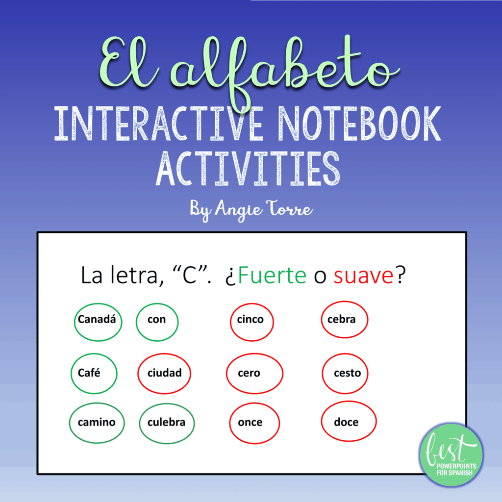 Spanish Alphabet El Alfabeto Interactive Notebook