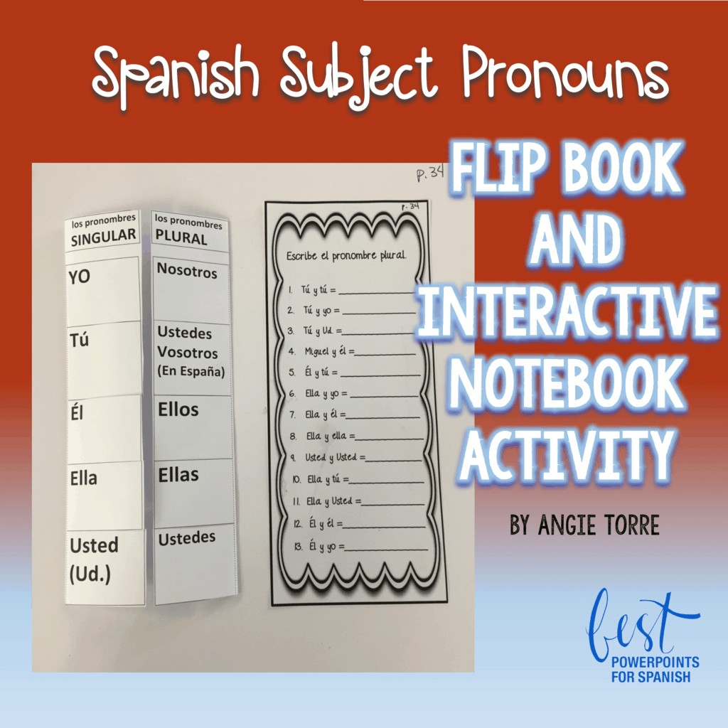Spanish Subject Pronouns Foldable And Interactive Notebook