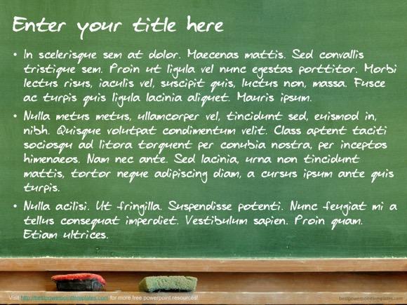 chalkboard template - free!, Modern powerpoint
