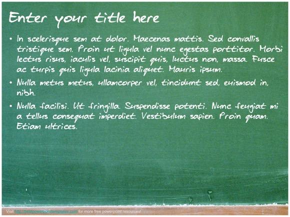chalkboard ppt template free opucuk kiessling co
