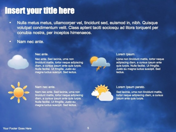 Weather powerpoint template free weather powerpoint templates creative weather toneelgroepblik Choice Image