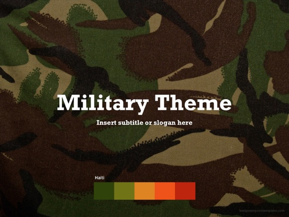 Military V 2 Powerpoint Template Free