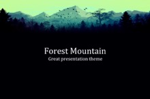 Forest PowerPoint Template - FREE