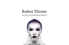 Robot PowerPoint Template - FREE