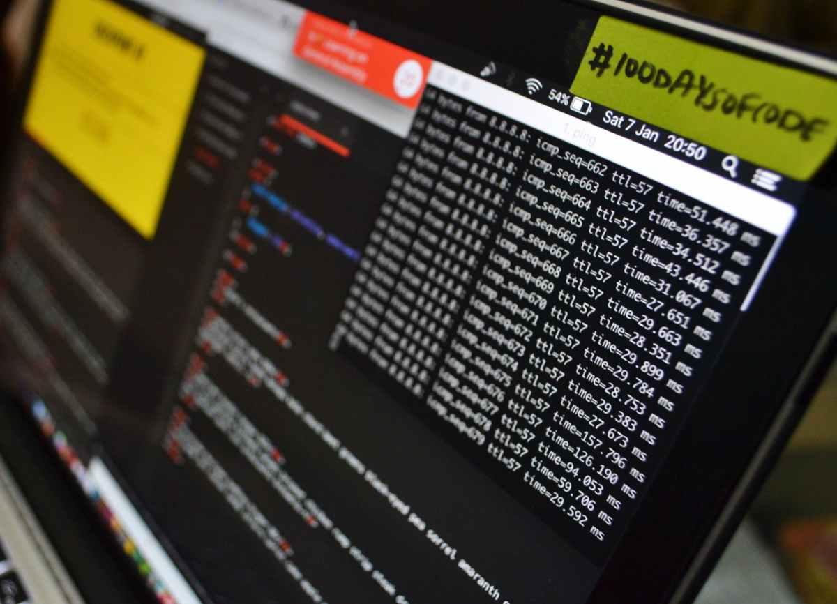 blur business close up coding