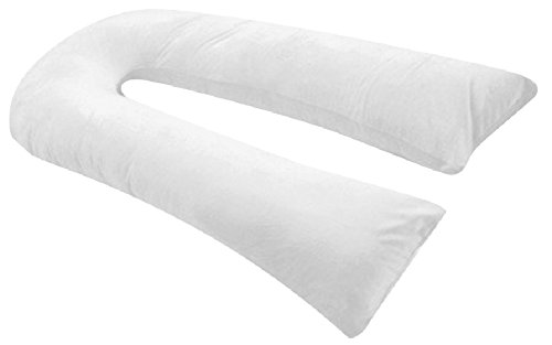 31H sPrFDbL - Oversized - Total Body Pregnancy Maternity Pillow- Full Support - w/ Zippered Cover - White - Exclusively By Blowout Bedding RN# 142035