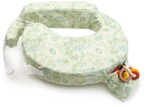 51oh0Bt ML - My Brest Friend Inflatable Travel Nursing Pillow in Green Paisley