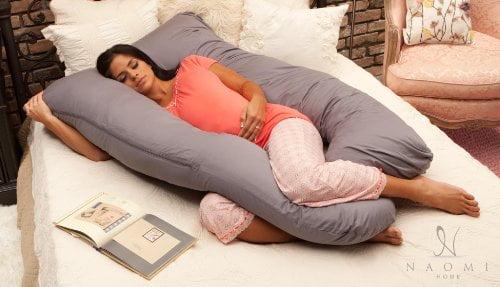 51ZpTaiWd L - Naomi Home Cozy Body Pillow, Gray