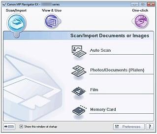 MP Navigator EX Software
