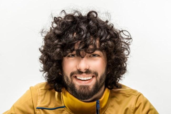 Curly hair male perm