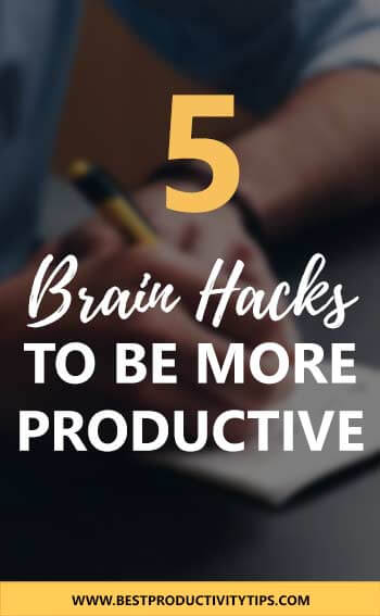 Find out 5 brain hacks to be more productive in your life. I'm sharing 5 simple tips to hack your brain to be a productive person.