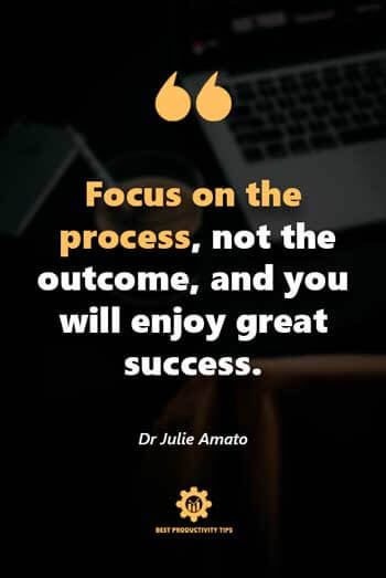 focus on the process quotes