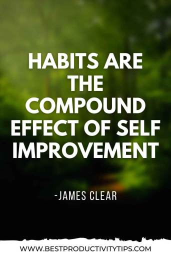 How to build habits that sticks. In this post, I'm going to share 7 powerful tips to to build healthy habits to be more productive in your life. | James Clear quotes | habits quotes | productivity quotes | procrastination quotes