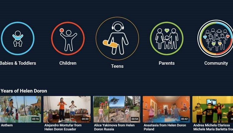 The New Helen Doron TV App Offers a Wide Variety of Free Content for All Ages