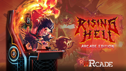 Vertical-Action Roguelike, Rising Hell, Now Available for iiRcade