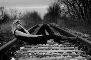 alone girls in a railway track facebook profile pictures