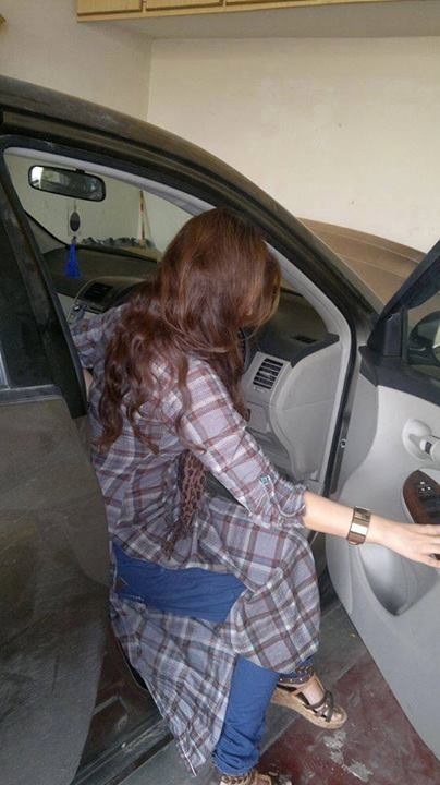 girl with car facebook profile pictures
