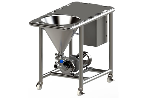 Dry powder mixer blender