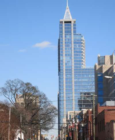 PNC Building, 301 Fayetteville St. Condominiums on Upper Floors, Best Raleigh Neighborhoods, Downtown Raleigh, Central Raleigh Neighborhood, Fayetteville Street District