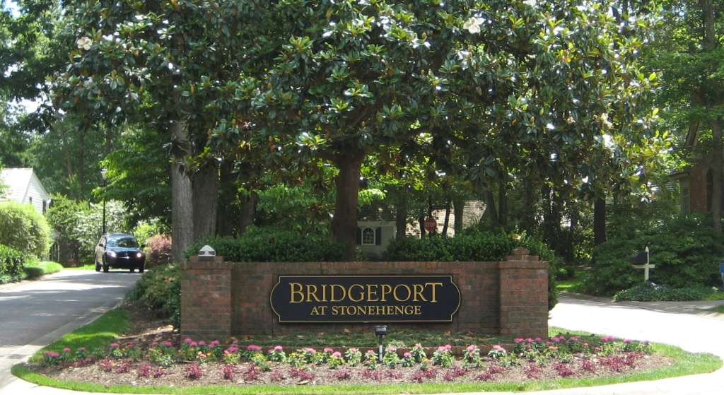 Bridgeport at Stonehenge Entry, Best Raleigh Neighborhoods, Midtown, Stonehenge, East of Creedmoor Road