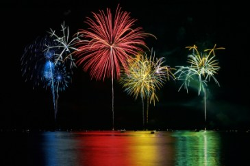 Lake Norman's Colorful Fireworks over the Lake