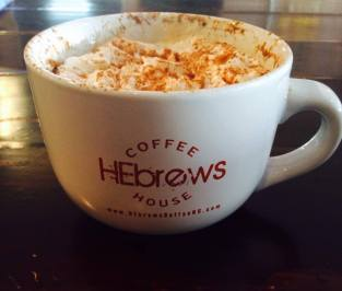 HEbrews Coffeehouse's wonderful cappacino