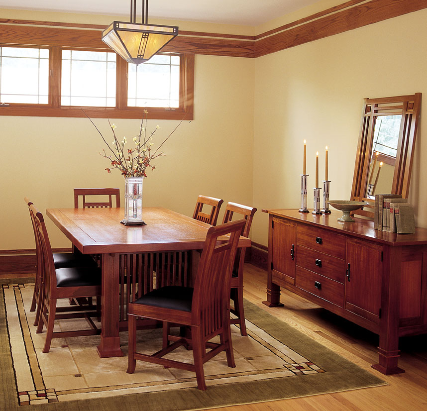 Mission Style Dining Room Furniture: A Lake Norman Sanctuary: A Classic Lake House With A