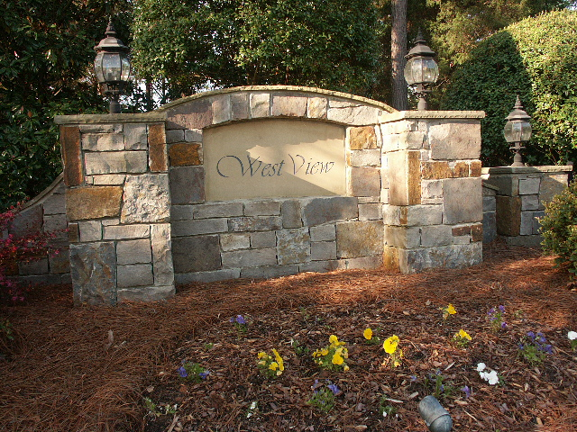 Gated Entrance to West View a Lake Norman waterfront neighborhood