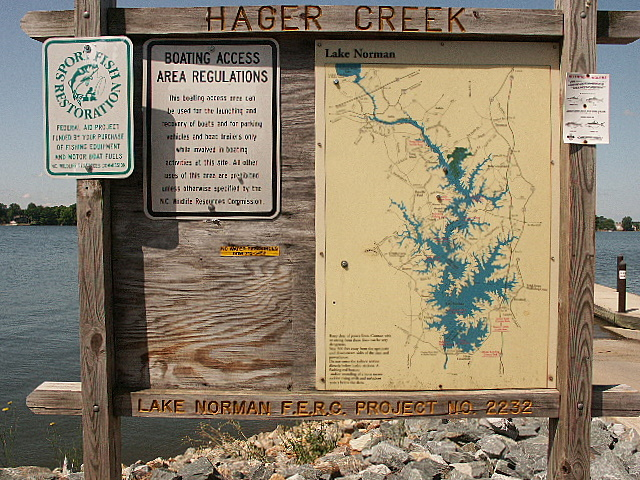 Lake Norman Map and rules at Hager Creek
