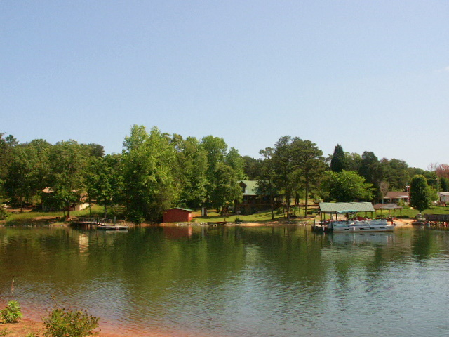 View of Lake Norman waterfront homes off Mckendree Rd.