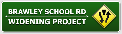 Lake Norman's Brawley School Rd. Widening Project Sign