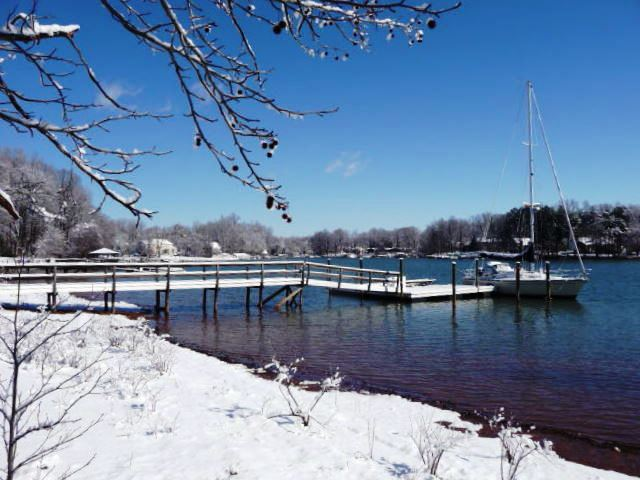 Lake Norman after a Snow Fall