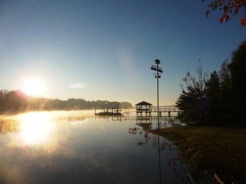 Lake Norman Sunrise in the fall 2009