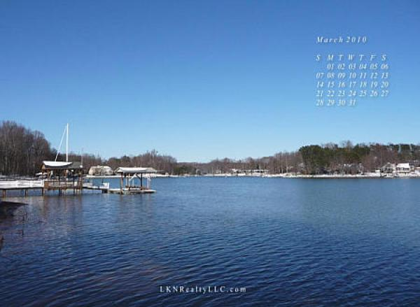 Lake Norman waterfront homes Calendar Photo