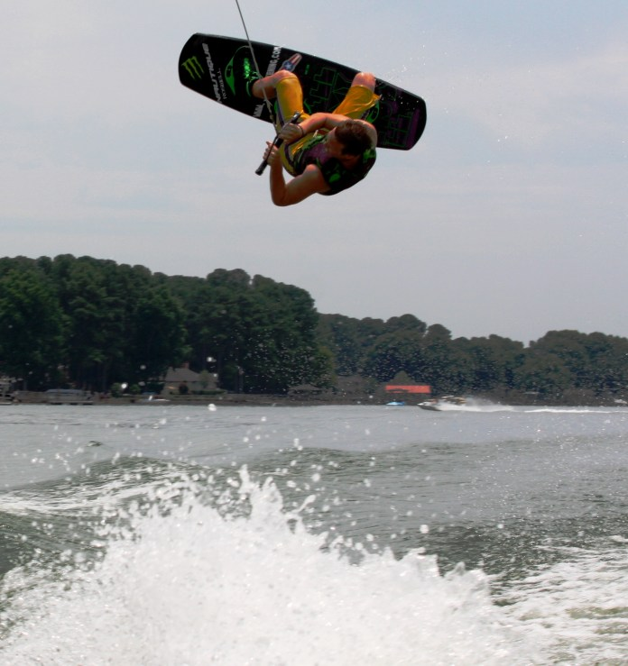 Justin Boston Wake Boarding on Lake Norman