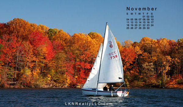 Lake Norman Real Estate's November 2012 Calendar