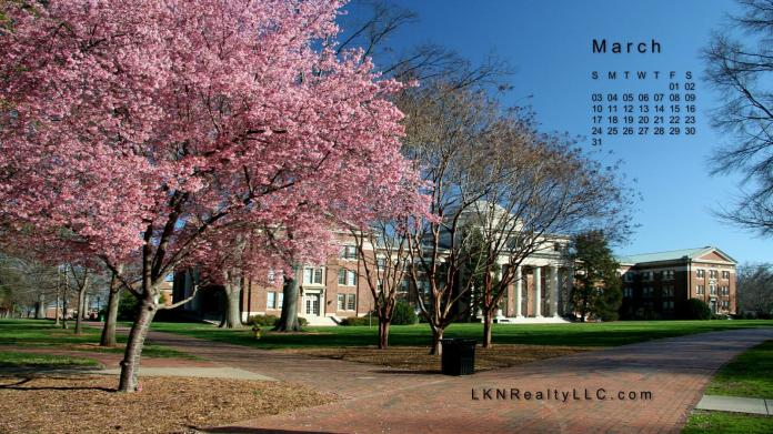 Lake Norman Real Estate Calendar March 2012