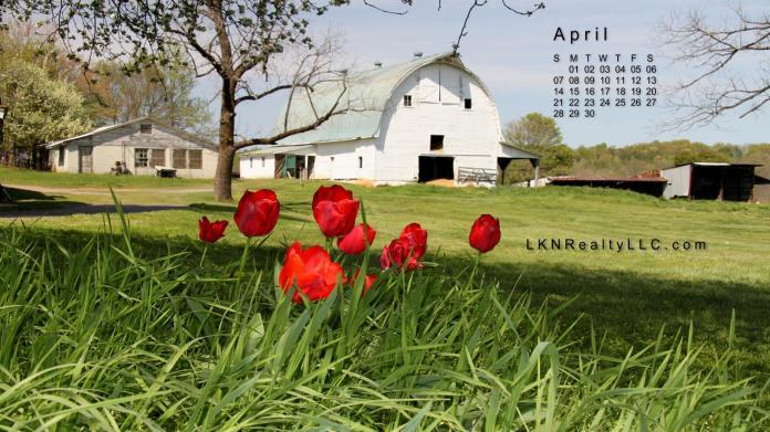 Lake Norman Real Estate's april 2013 Desktop Calendar