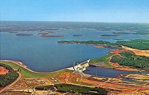Lake Norman 50th Anniversary photo of dam in progress
