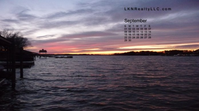 Lake Norman Real Estate's September 2013 Calendar