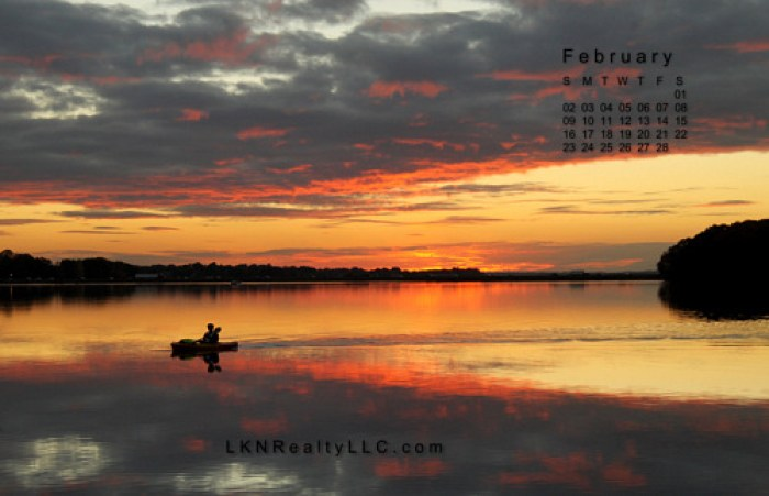 Lake Norman Sunset photo for Lake Norman Real Estate's Calendar