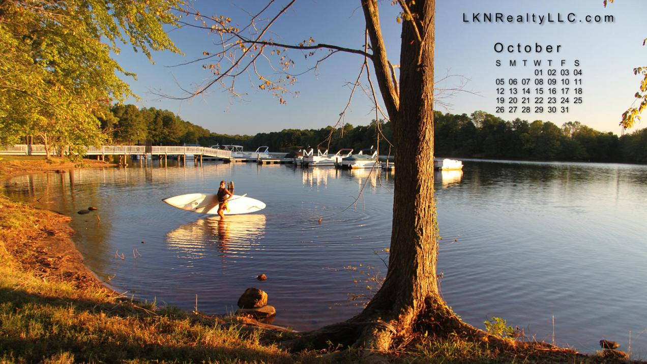 Lake Norman Desktop Calendar October 2014