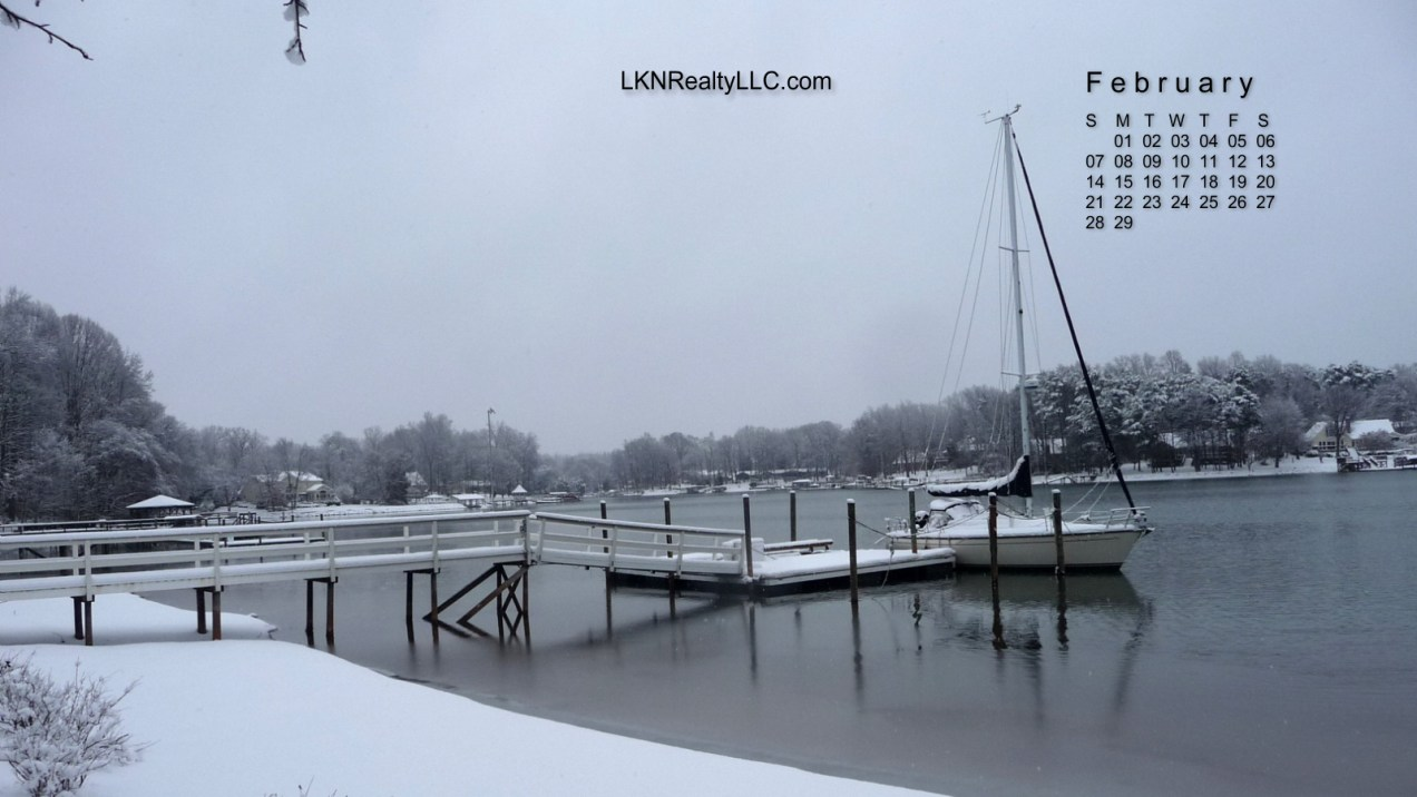 Lake Norman in the snow