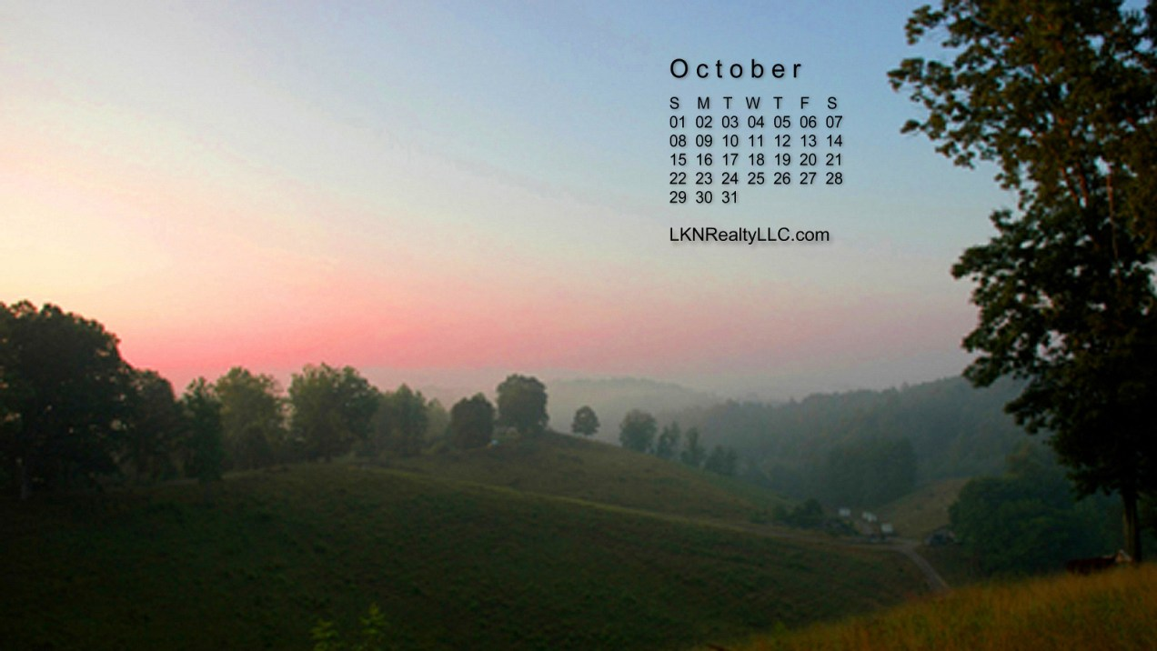 Lake Norman October 2017 Calendar