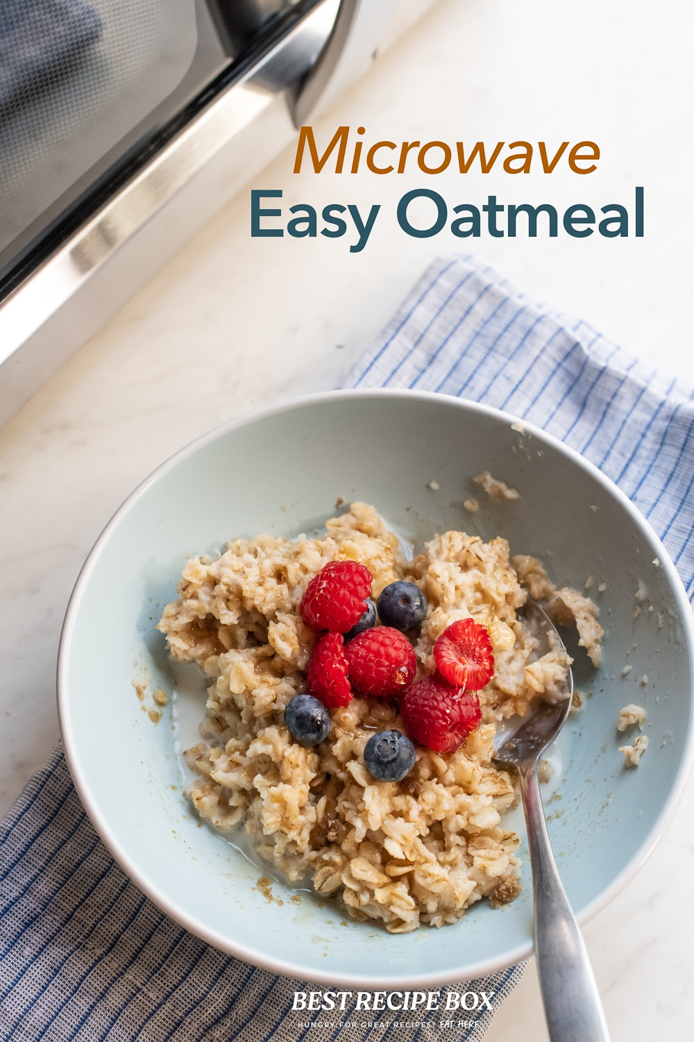 microwave easy oatmeal with old fashioned oats