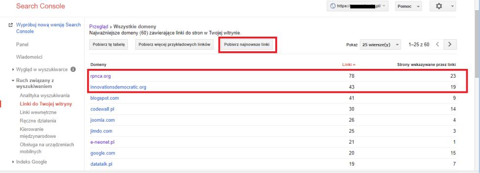 Blog - Zrzeczenie się linków w Google disavow file